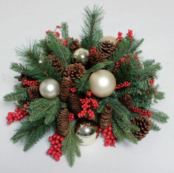 Kerststuk goud