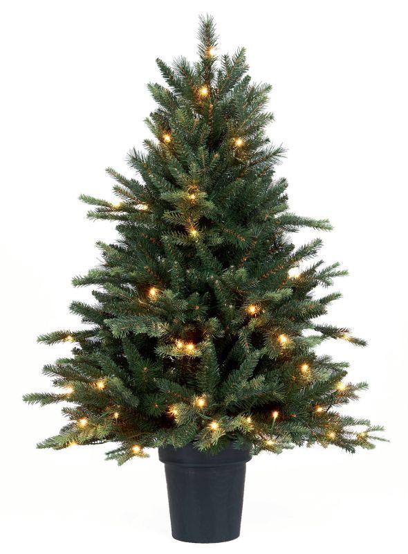 Mini Kerstboom Groen Met Lichtjes 110 Cm Kerstbomen Verhuur